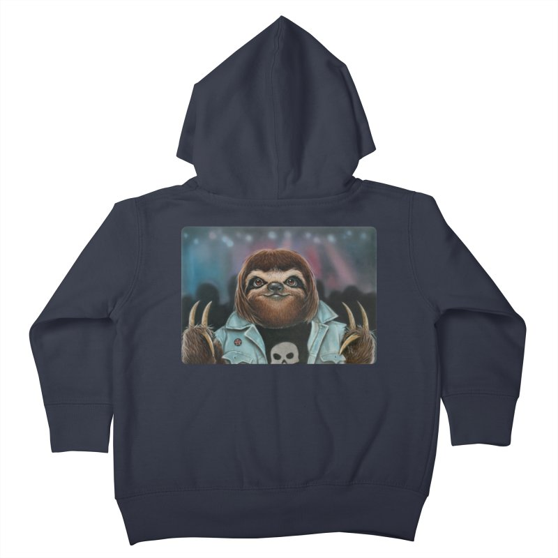 Metal Sloth Kids Toddler Zip-Up Hoody by kenkeirns's Artist Shop