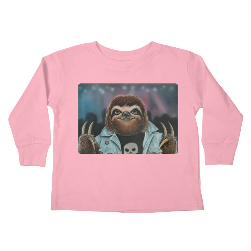 Metal Sloth Kids Toddler Longsleeve T-Shirt by kenkeirns's Artist Shop