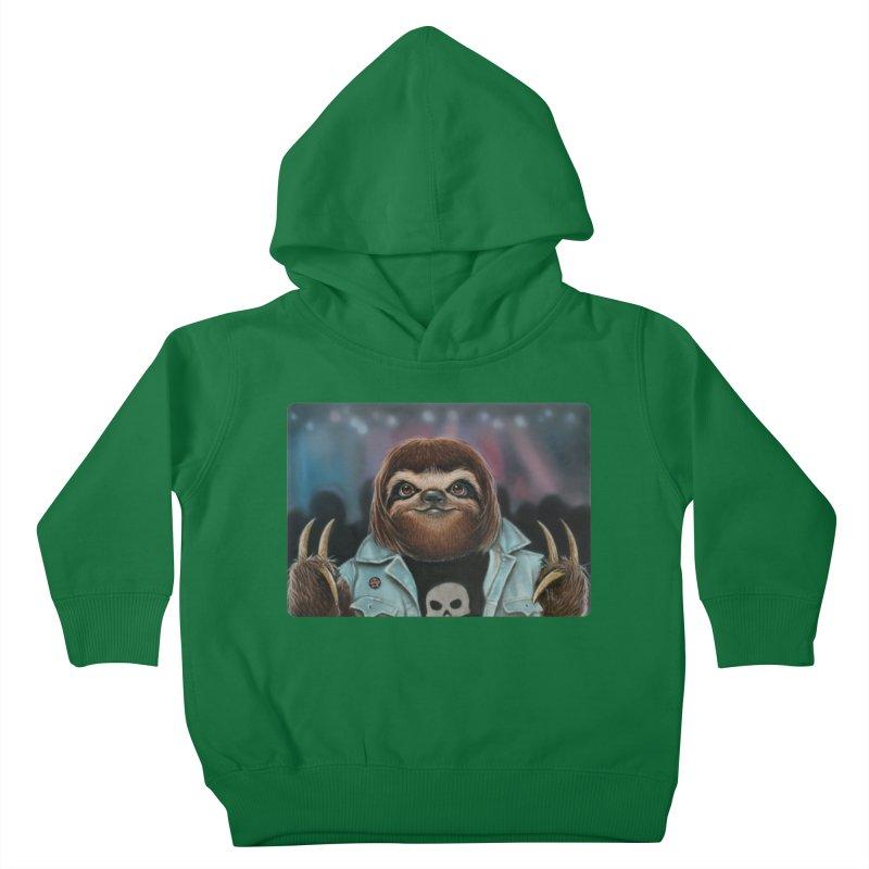 Metal Sloth Kids Toddler Pullover Hoody by kenkeirns's Artist Shop