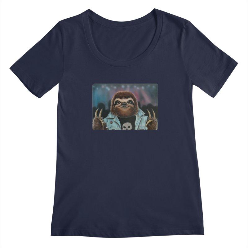Metal Sloth Women's Scoopneck by kenkeirns's Artist Shop