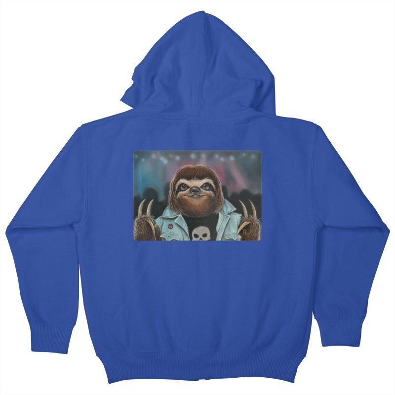 Metal Sloth Kids Zip-Up Hoody by kenkeirns's Artist Shop