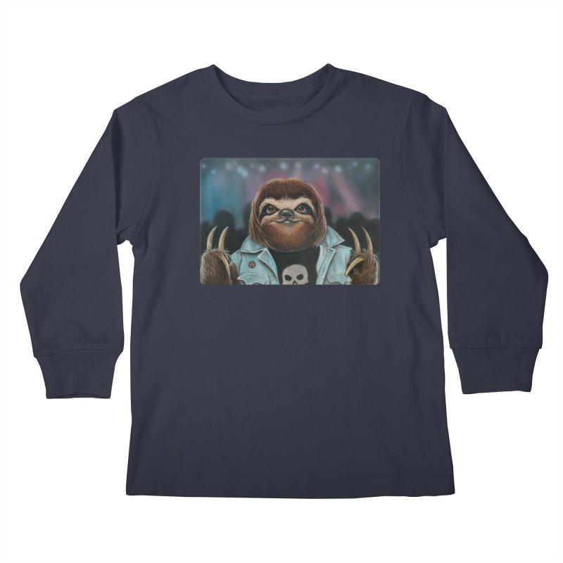 Metal Sloth Kids Longsleeve T-Shirt by kenkeirns's Artist Shop