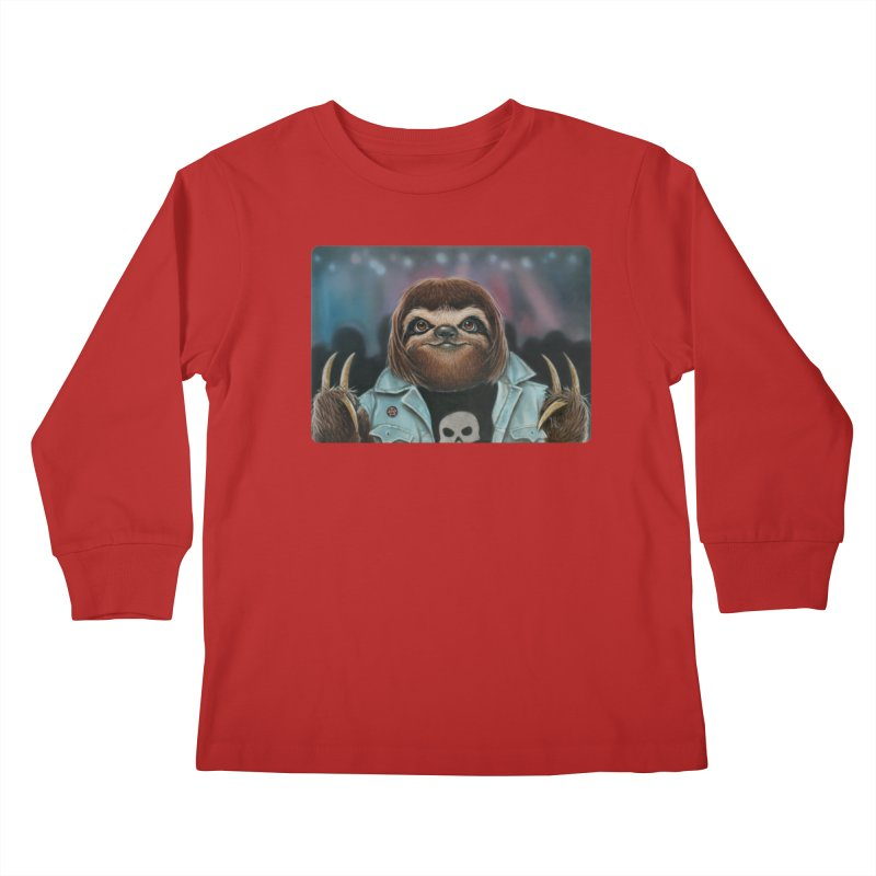 Metal Sloth Kids Longsleeve T-Shirt by kenkeirns's Artist Shop