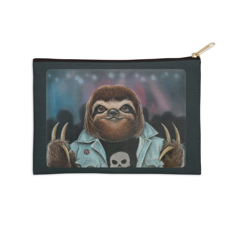 Metal Sloth Accessories Zip Pouch by kenkeirns's Artist Shop