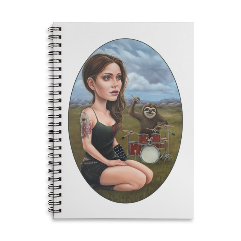 Slow Jam Accessories Lined Spiral Notebook by Ken Keirns