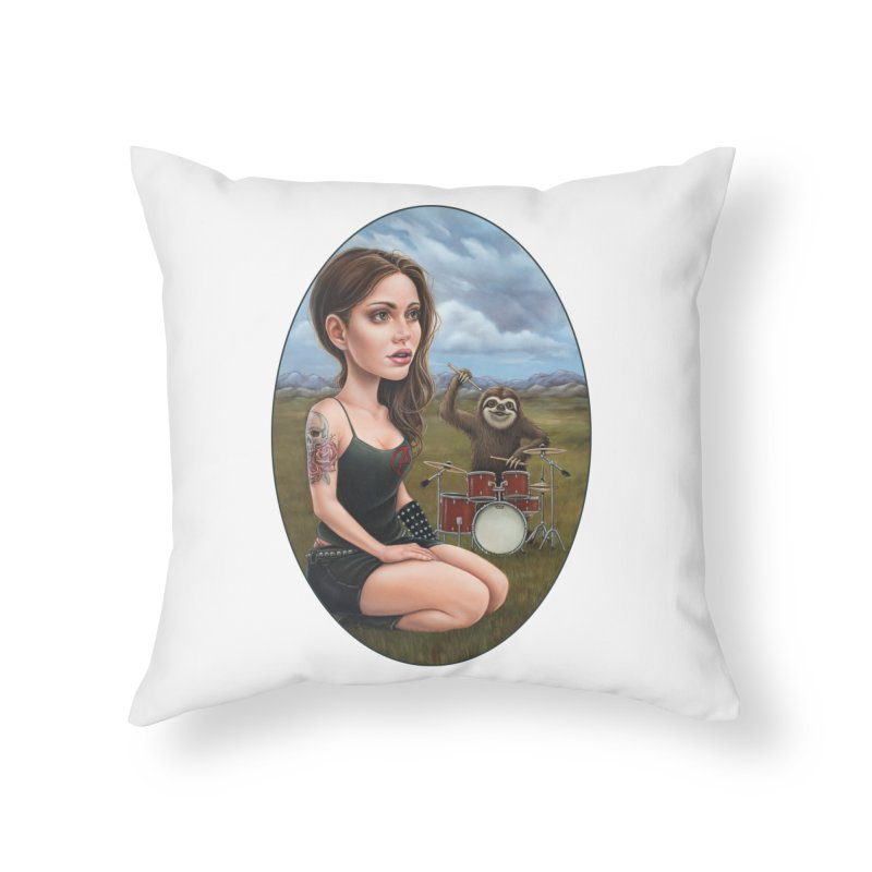 Slow Jam Home Throw Pillow by Ken Keirns