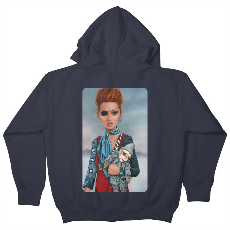 Ashes Kids Zip-Up Hoody by kenkeirns's Artist Shop
