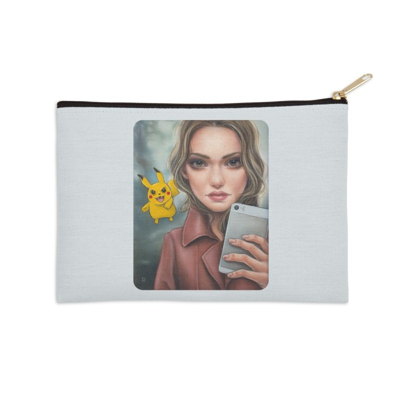 The Hunter Becomes the Hunted Accessories Zip Pouch by Ken Keirns