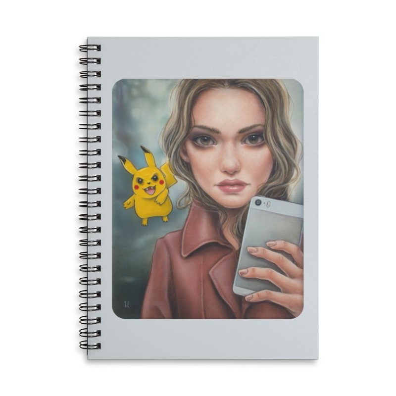 The Hunter Becomes the Hunted Accessories Lined Spiral Notebook by Ken Keirns