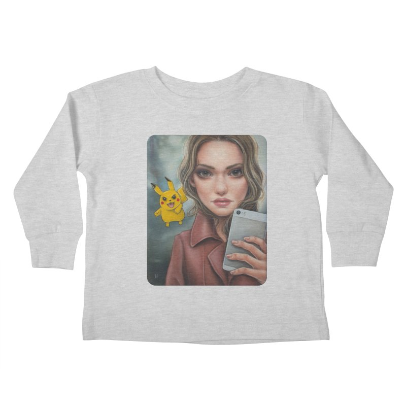 The Hunter Becomes the Hunted Kids Toddler Longsleeve T-Shirt by kenkeirns's Artist Shop