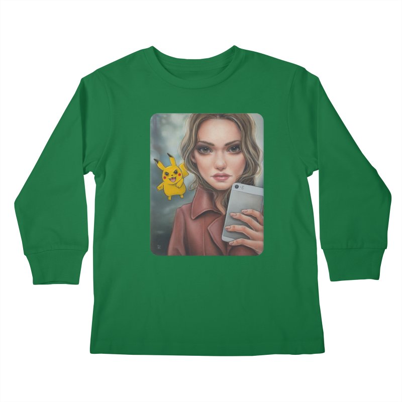 The Hunter Becomes the Hunted Kids Longsleeve T-Shirt by kenkeirns's Artist Shop