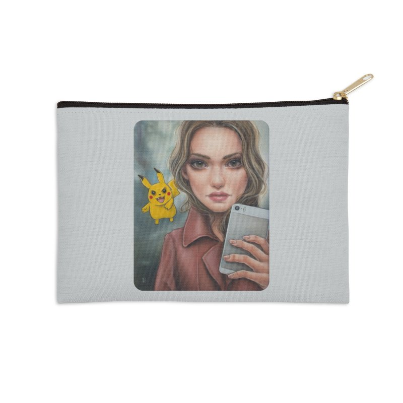 The Hunter Becomes the Hunted Accessories Zip Pouch by kenkeirns's Artist Shop