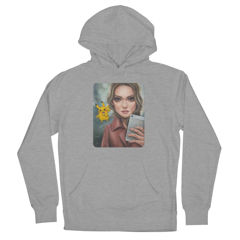 The Hunter Becomes the Hunted Women's French Terry Pullover Hoody by Ken Keirns