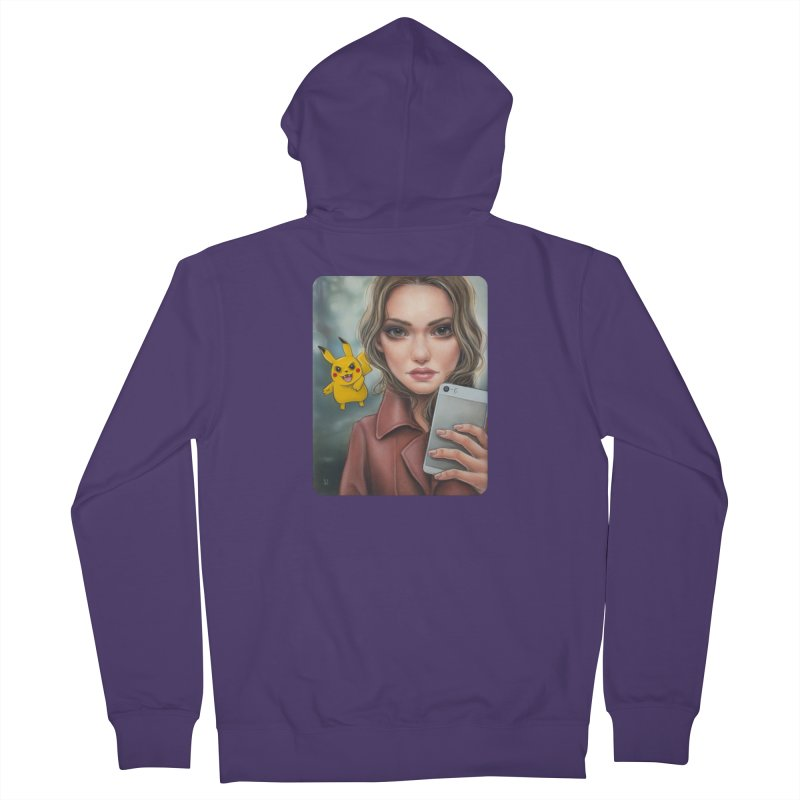 The Hunter Becomes the Hunted Women's French Terry Zip-Up Hoody by Ken Keirns