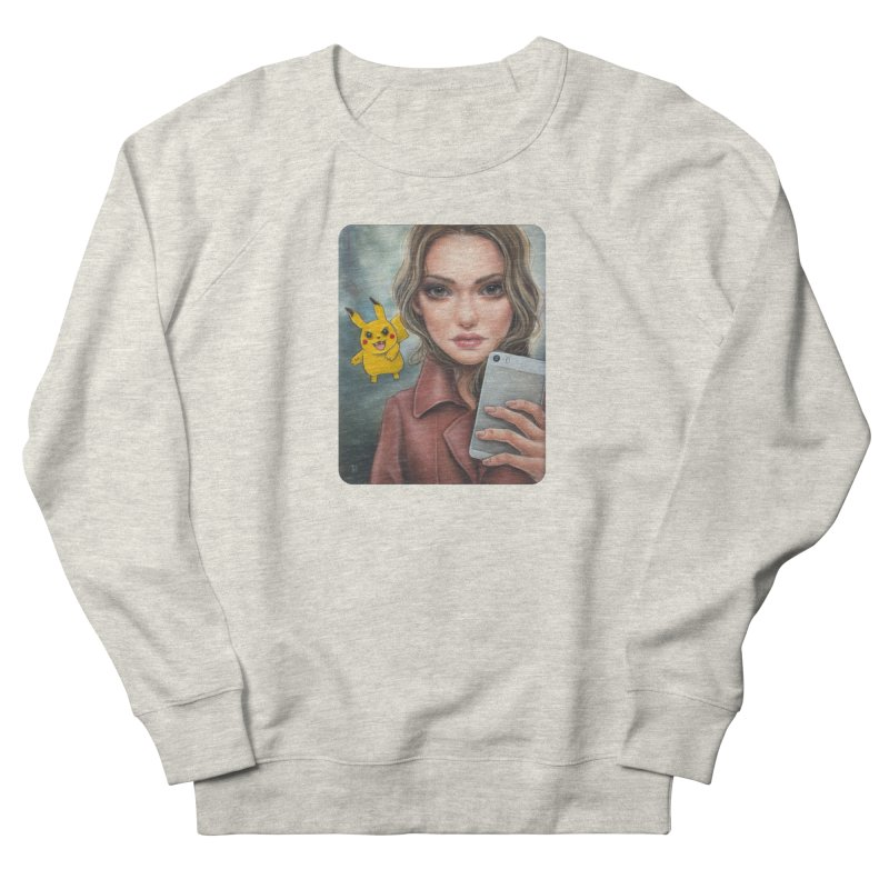 The Hunter Becomes the Hunted Women's French Terry Sweatshirt by Ken Keirns