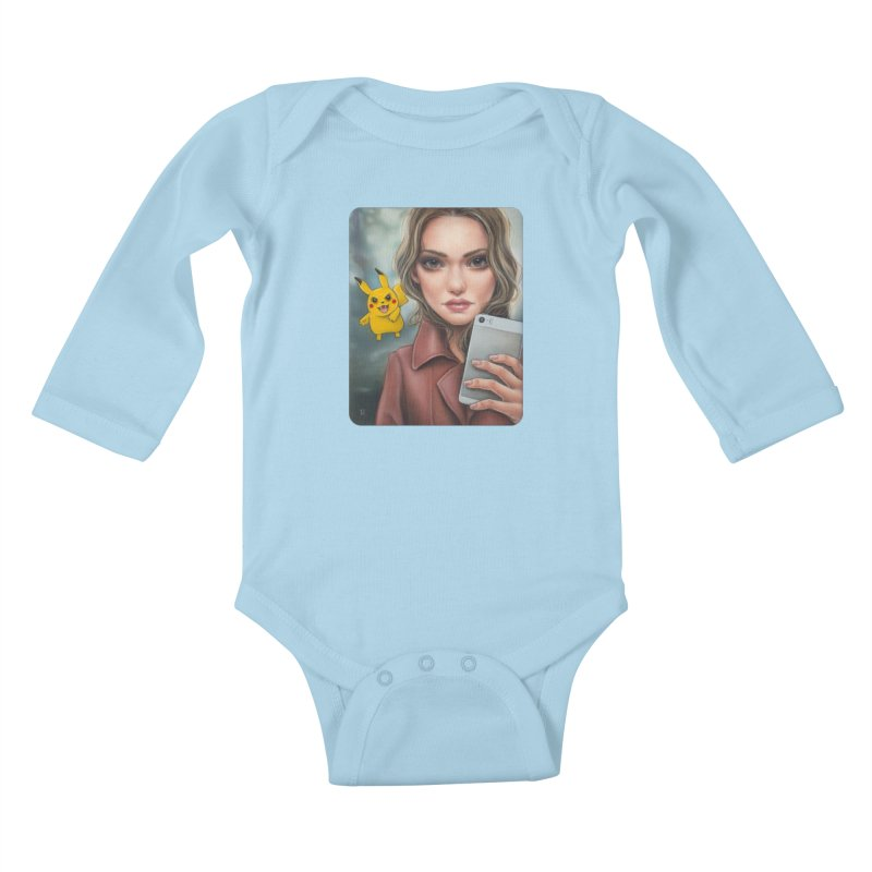 The Hunter Becomes the Hunted Kids Baby Longsleeve Bodysuit by Ken Keirns