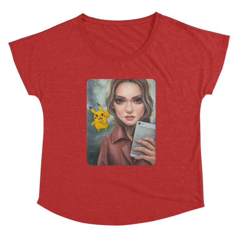 The Hunter Becomes the Hunted Women's Dolman Scoop Neck by Ken Keirns