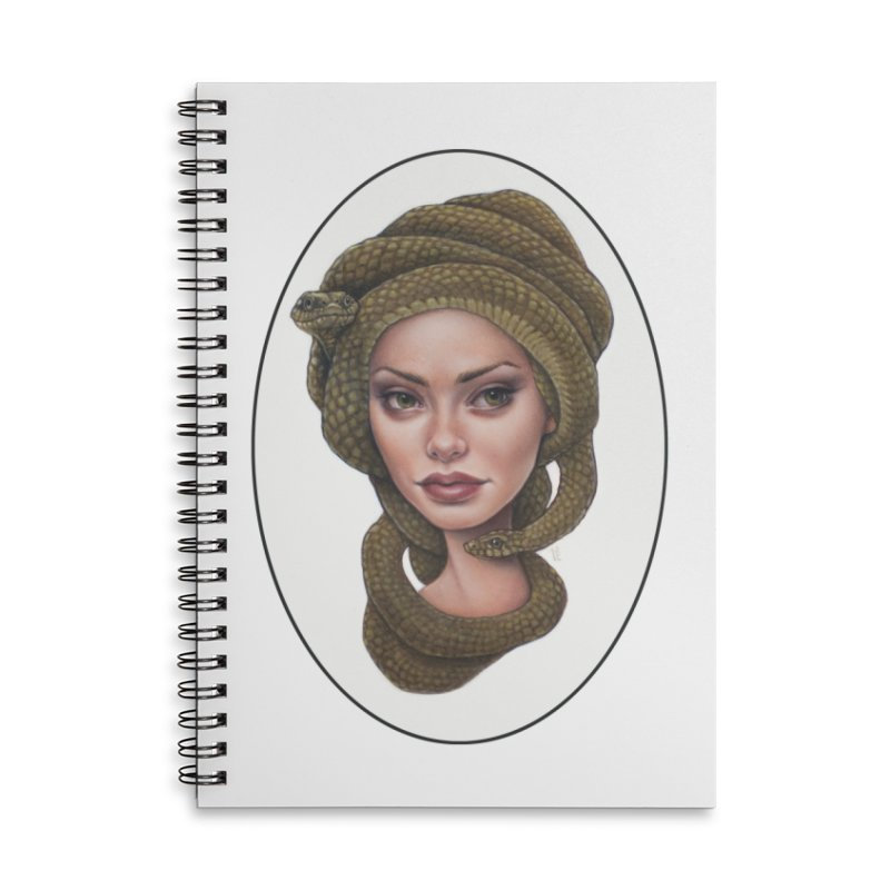 The Devil's 'do Accessories Lined Spiral Notebook by Ken Keirns