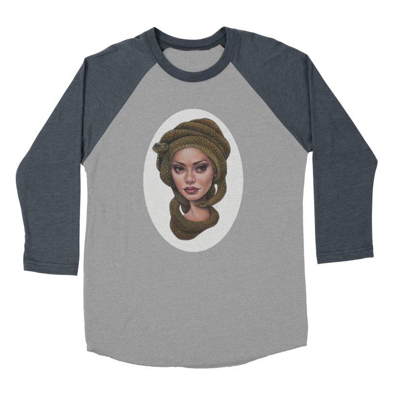 The Devil's 'do Women's Baseball Triblend T-Shirt by kenkeirns's Artist Shop