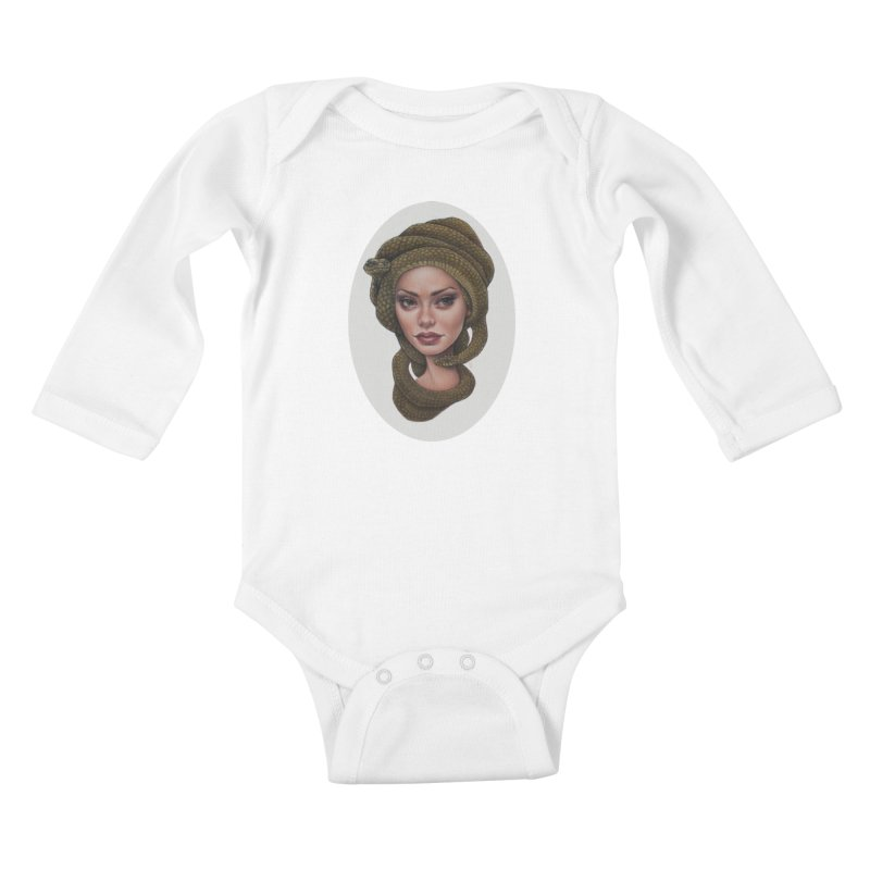 The Devil's 'do Kids Baby Longsleeve Bodysuit by kenkeirns's Artist Shop