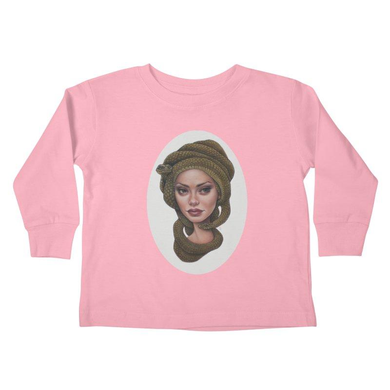 The Devil's 'do Kids Toddler Longsleeve T-Shirt by kenkeirns's Artist Shop