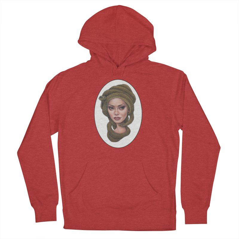The Devil's 'do Women's French Terry Pullover Hoody by Ken Keirns