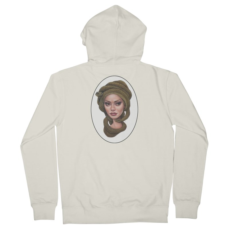 The Devil's 'do Women's French Terry Zip-Up Hoody by Ken Keirns