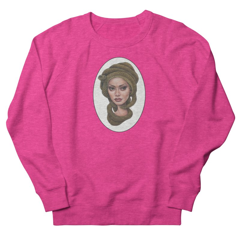 The Devil's 'do Women's French Terry Sweatshirt by Ken Keirns