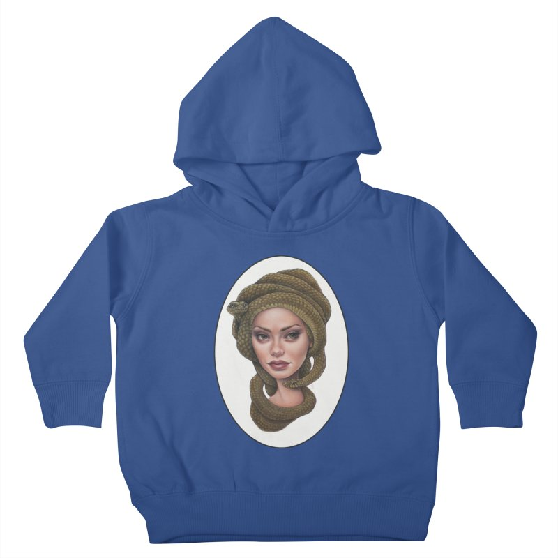 The Devil's 'do Kids Toddler Pullover Hoody by Ken Keirns