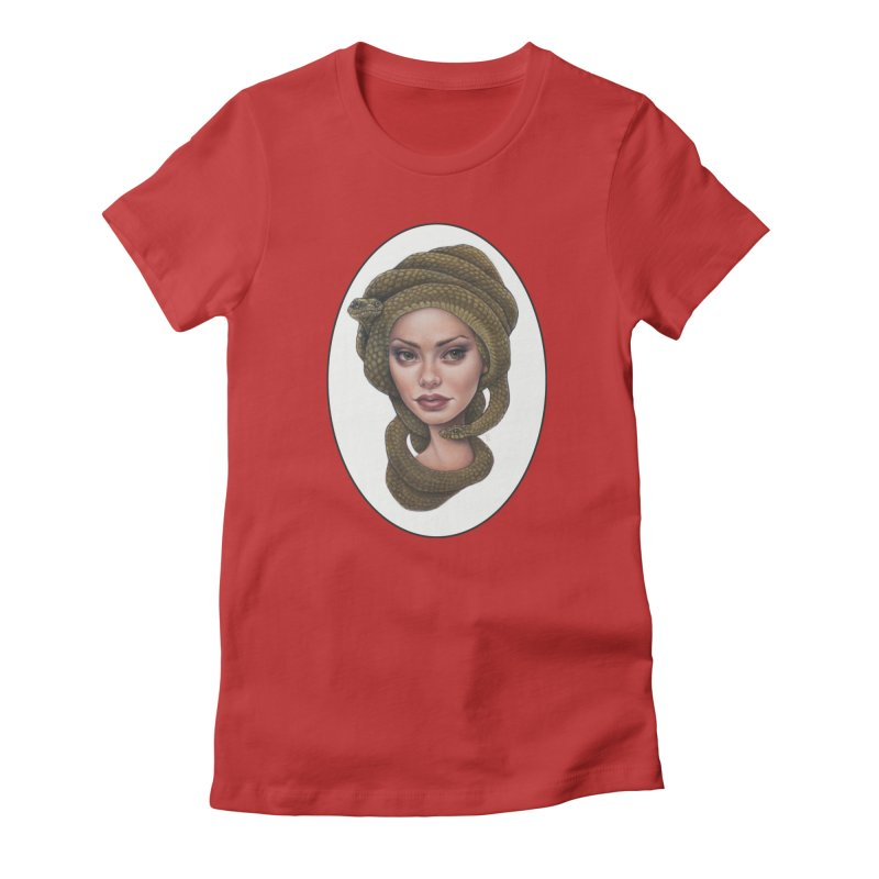 The Devil's 'do Women's Fitted T-Shirt by Ken Keirns