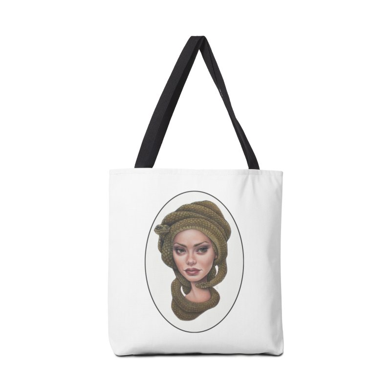 The Devil's 'do Accessories Tote Bag Bag by Ken Keirns