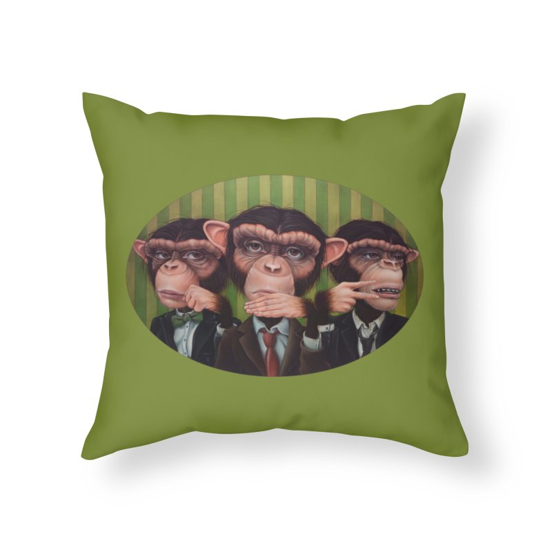 Ro Sham Bo Home Throw Pillow by kenkeirns's Artist Shop