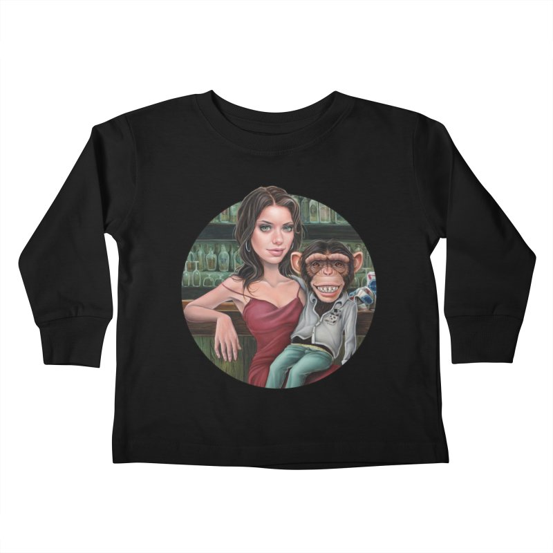 Last Call Kids Toddler Longsleeve T-Shirt by kenkeirns's Artist Shop