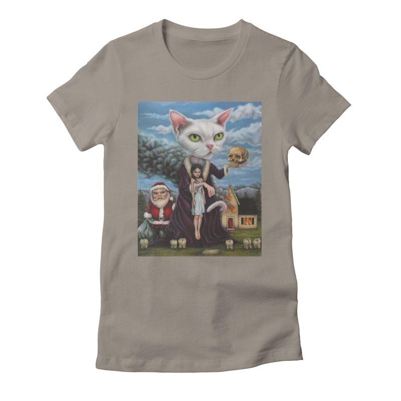 The Sleeper Women's Fitted T-Shirt by kenkeirns's Artist Shop