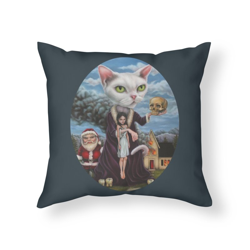The Sleeper Home Throw Pillow by kenkeirns's Artist Shop