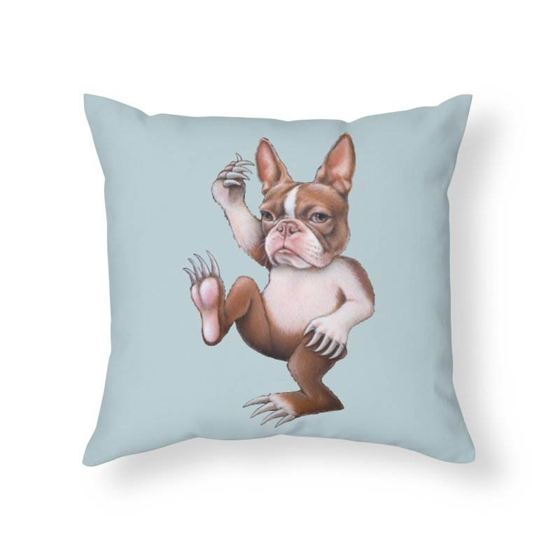 Grumpy Rumpus (cut out) Home Throw Pillow by Ken Keirns