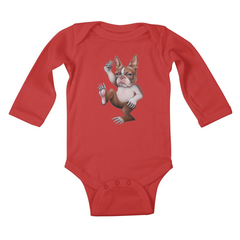 Grumpy Rumpus (cut out) Kids Baby Longsleeve Bodysuit by kenkeirns's Artist Shop