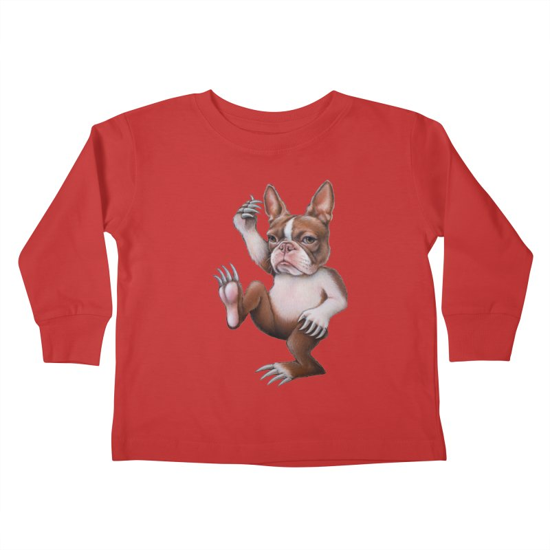 Grumpy Rumpus (cut out) Kids Toddler Longsleeve T-Shirt by kenkeirns's Artist Shop