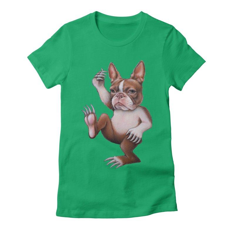 Grumpy Rumpus (cut out) Women's Fitted T-Shirt by kenkeirns's Artist Shop