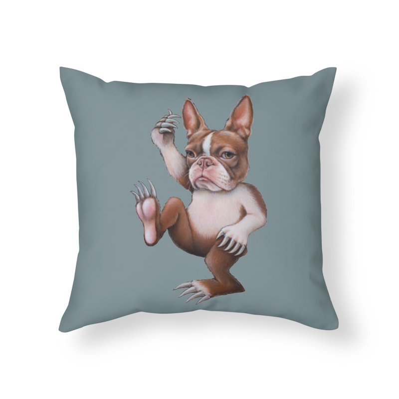 Grumpy Rumpus (cut out) Home Throw Pillow by kenkeirns's Artist Shop