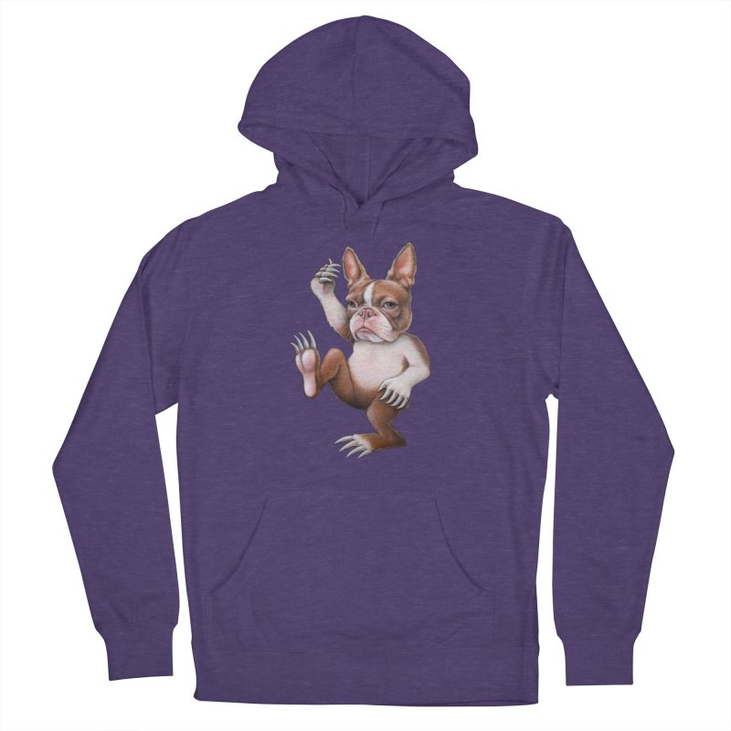 Grumpy Rumpus (cut out) Women's French Terry Pullover Hoody by Ken Keirns