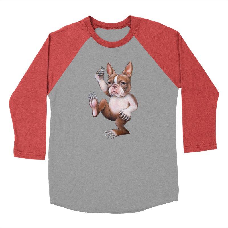 Grumpy Rumpus (cut out) Women's Baseball Triblend Longsleeve T-Shirt by Ken Keirns