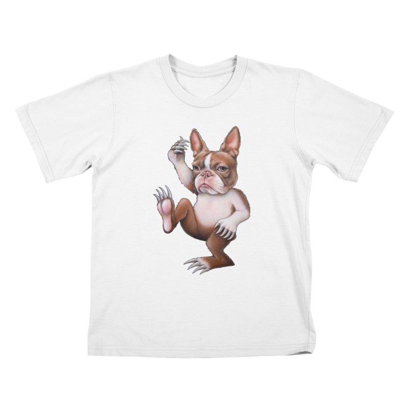 Grumpy Rumpus (cut out) Kids T-Shirt by Ken Keirns