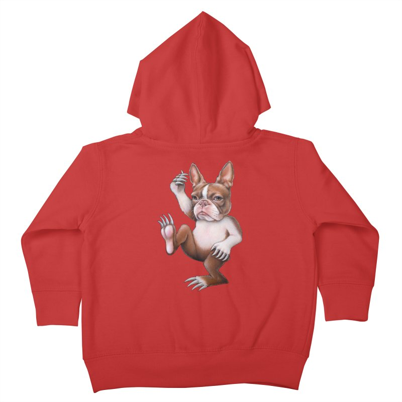 Grumpy Rumpus (cut out) Kids Toddler Zip-Up Hoody by Ken Keirns