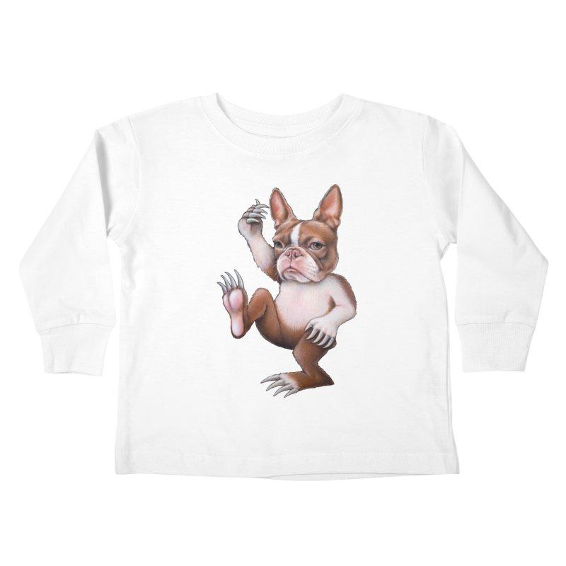 Grumpy Rumpus (cut out) Kids Toddler Longsleeve T-Shirt by Ken Keirns