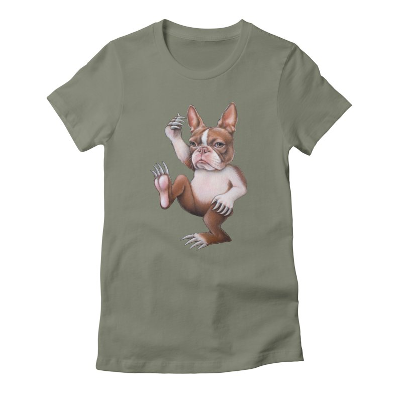Grumpy Rumpus (cut out) Women's Fitted T-Shirt by Ken Keirns