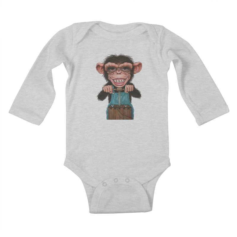 Boom Box (cut out) Kids Baby Longsleeve Bodysuit by kenkeirns's Artist Shop