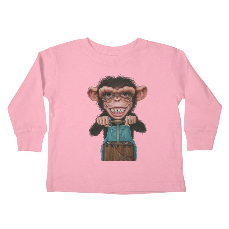Boom Box (cut out) Kids Toddler Longsleeve T-Shirt by kenkeirns's Artist Shop