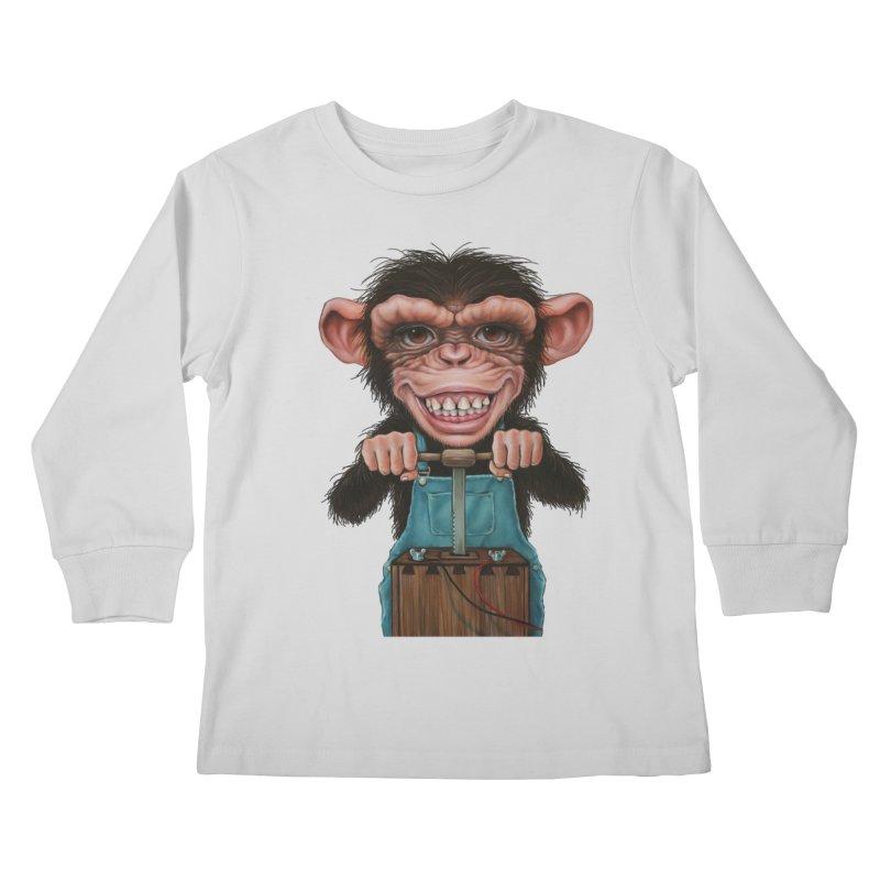 Boom Box (cut out) Kids Longsleeve T-Shirt by kenkeirns's Artist Shop