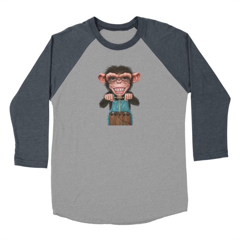 Boom Box (cut out) Women's Baseball Triblend Longsleeve T-Shirt by Ken Keirns